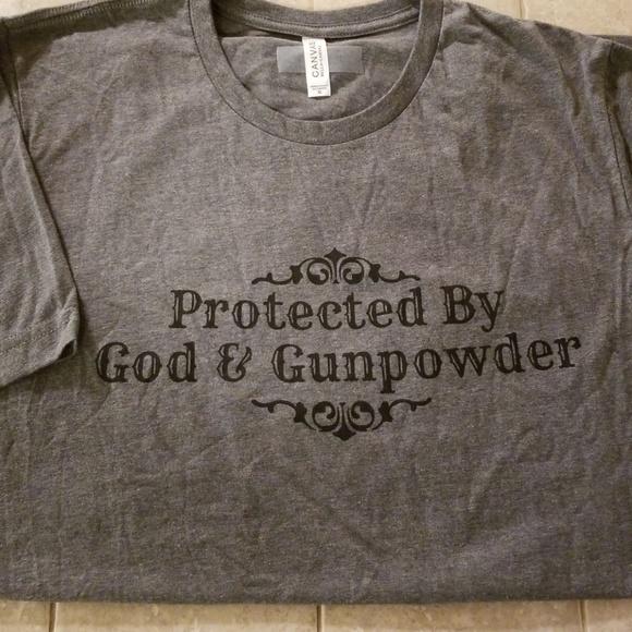 24af596a Bella Canvas Tops | Protected By God Gunpowder Xl Tee Shirt Top ...